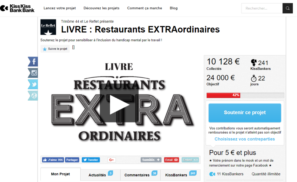 "Page ""Restaurants extraordinaires"" sur kiss kiss bank bank"