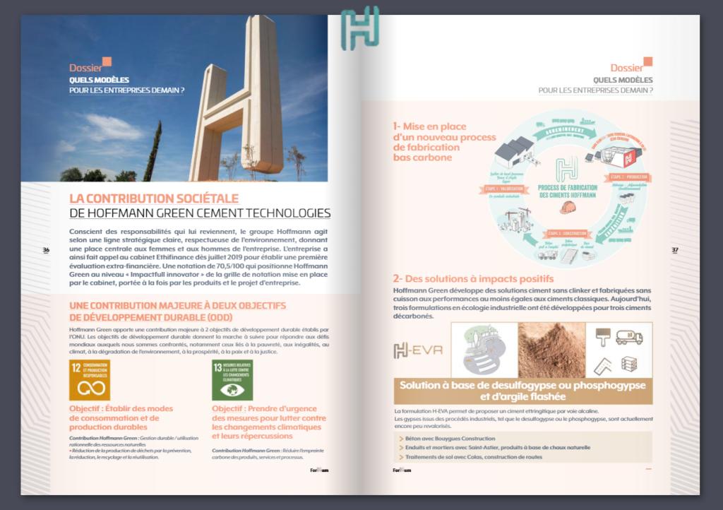 La contribution sociétale de Hoffmann Green Cement Technologies
