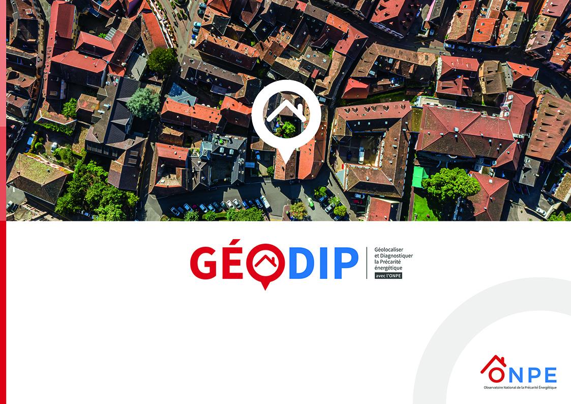 Création de la marque GéoDIP pour le nouvel outil de cartographie de la précarité énergétique de l'ONPE.